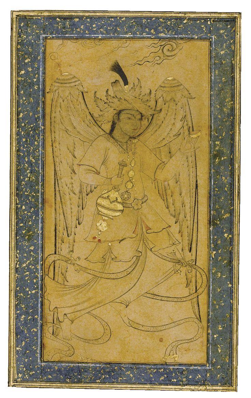 AN OTTOMAN DRAWING OF A PERI, TURKEY, 16TH CENTURY