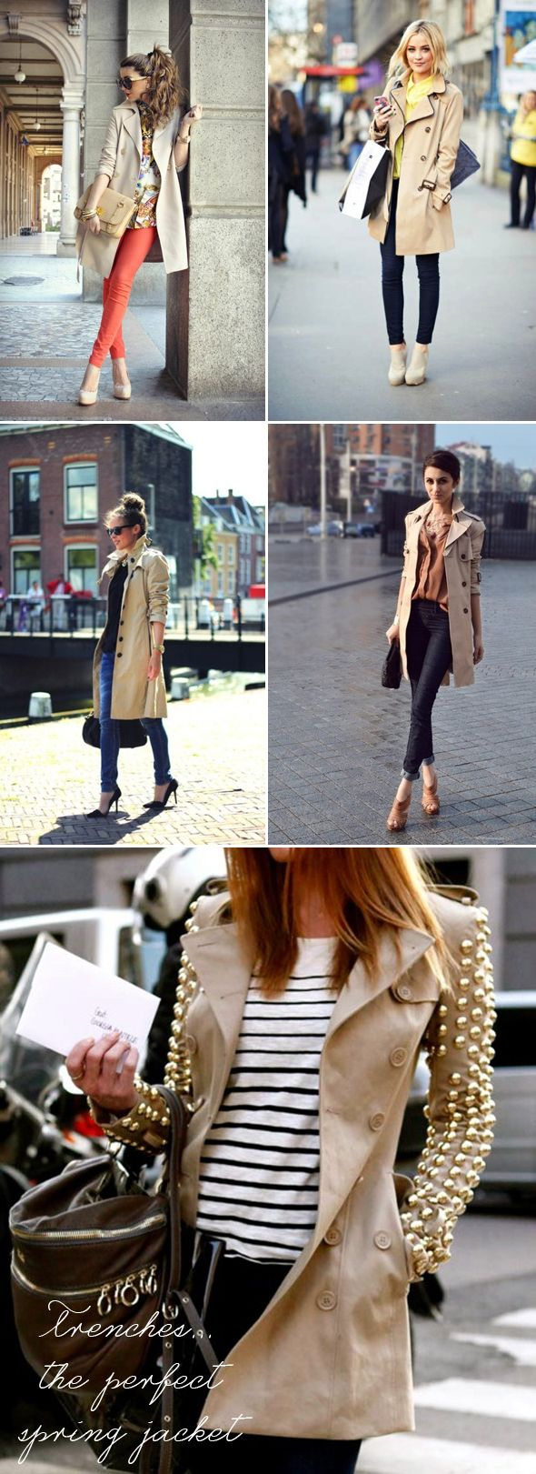 Trenches for spring - Fashion Inspiration | The Style Umbrella - Inspiration for Stylish Living