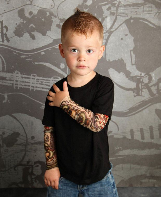 TotTude: Mum designs fake tattoo sleeves for babies with attitude ...