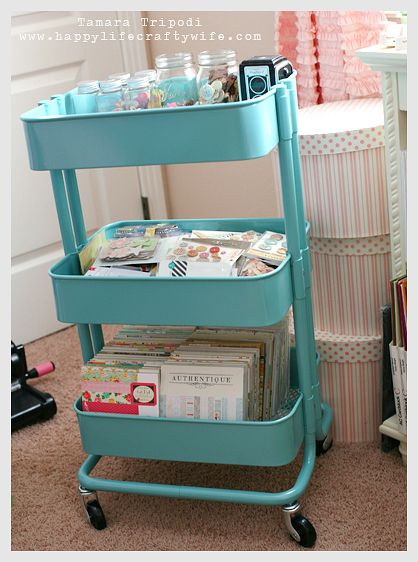 For my office Ikea cart hello packaging storage I can