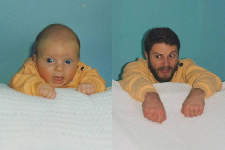 Matching scared face  Check Out These Hilariously Recreated Childhood Photos • Page 5 of 6 • BoredBug