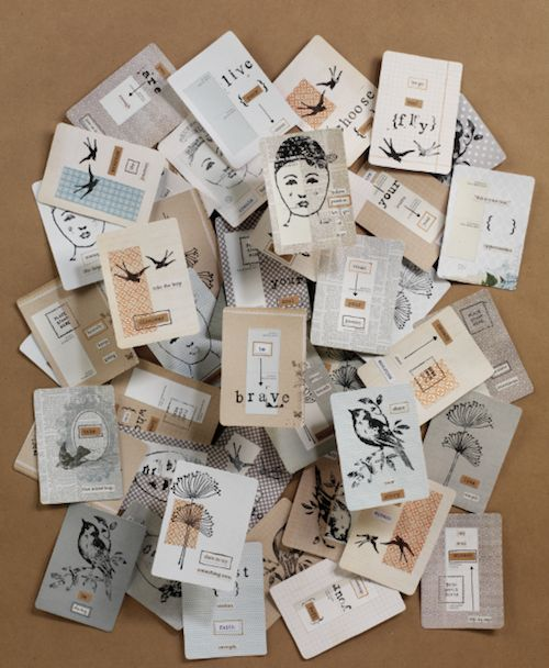 Nichole Rae, Art Journal, Art Journey, 2014. Turn a deck of playing cards into a set of affirmations. Great tutorial.