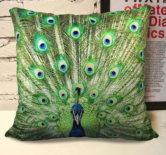 18 Vivid And Chic Mid Century Bedroom Design Ideas: 18 Vivid Velvet Peacock Cushion Case, Decorative Pillow