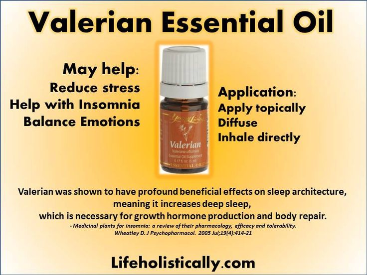 Young Living Essential Oils: Valerian for Stress Insomnia ...