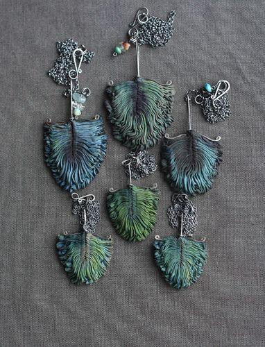 Eva/Tinctory - Feathers - prayed silk organza, natural dye