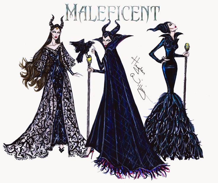 #Hayden Williams Fashion Illustrations #Maleficent collection by Hayden Williams