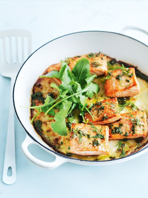 Creamy Potato And Salmon Bake | Donna Hay