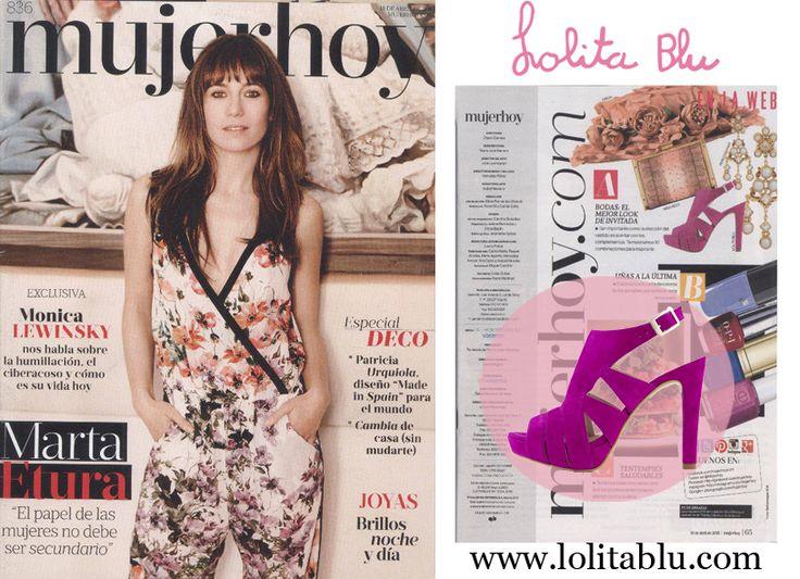 MujerHoy recomienda nuestra sandalia fucsia con plataforma. Disponible en 3 colores