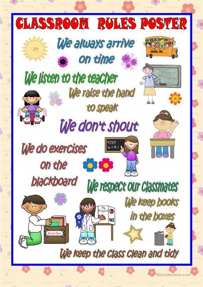 Calendrier Des Regles Always.Classroom Rules Poster Gardendeckingtips Anglais Enfant