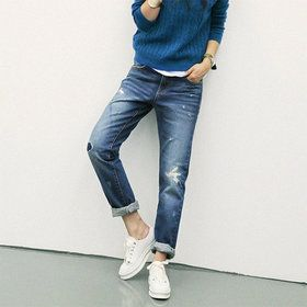 Gmarket - [Naning9] Ripped denim pants / carrot jeans / roll up ...