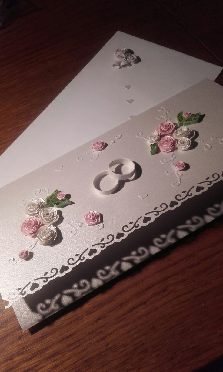 Quilling kartka ślubna