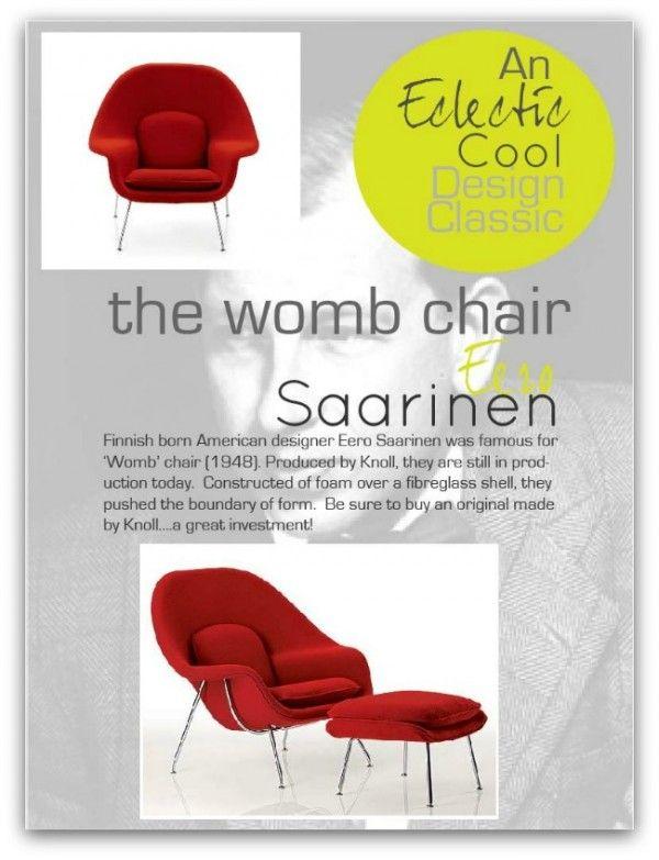 Eero saarinen  Womb Chair167 best SPF D sir e Saarinen Womb chair 1948 images on Pinterest  . Eames Wicker Womb Chair. Home Design Ideas