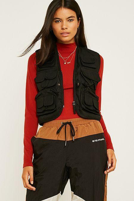 4a5851a6450 Urban Renewal Vintage Surplus Black Utility Vest