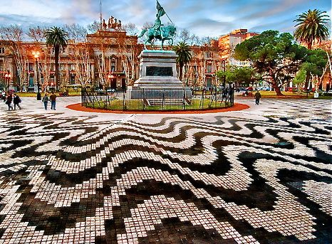 Park in Rosario. Love the tiling!! How about that for interior flooring?!