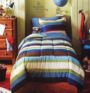racing bedding for boys boys blue stripe twin comforter sheets 5pc bedding set new