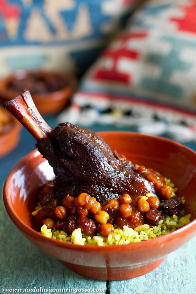 This comforting and aromatic lamb shank dish, Marka hloua, is actually of Tunisian Jewish origin.