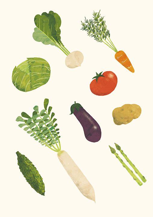 野菜 Vegetables #illustration #food