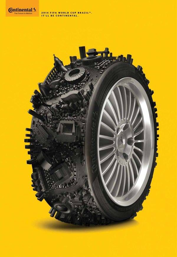 Cityscape Tire Ads - This Continental Tires Ad Celebrates the Brazil 2014 World Cup
