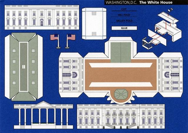 make city washington d c the white house cut out postcard by shook photos via flickr. Black Bedroom Furniture Sets. Home Design Ideas