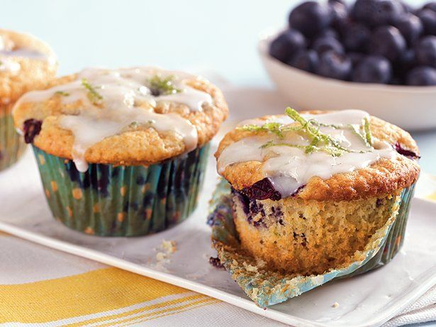 Blueberry Lime Muffins - Tried them this morning, very good. The dough ...