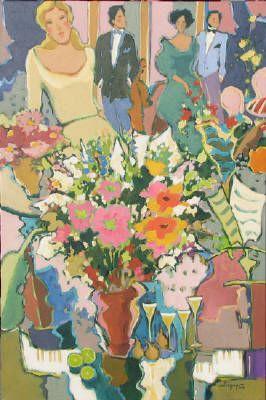 Claudette Castonguay, Fleurs de saison, Acrylic on Canvas 36 X 24 in.