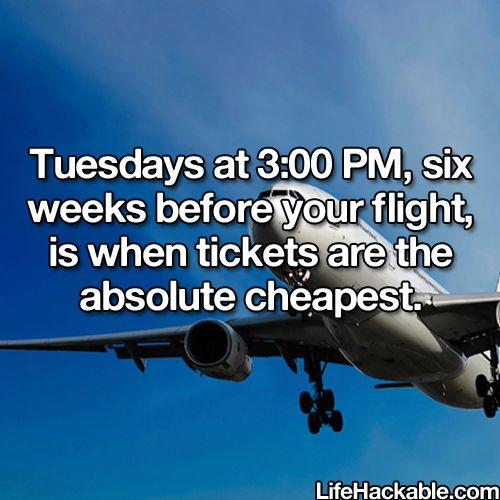 Tip in saving on flights