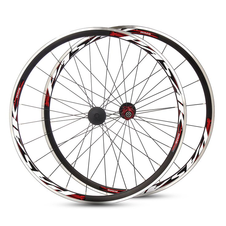 PASAK 700C Ultra Light Road Bicycle Wheel Front Rear Wheelset Aluminum Rim C/V Brake