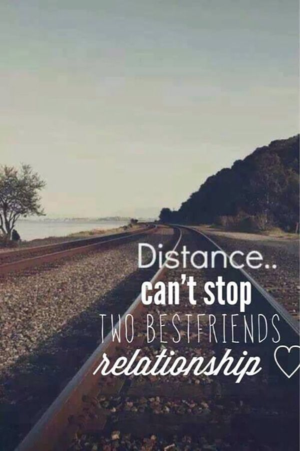 """""""Distance can't stop two best friends' relationship."""""""