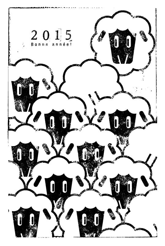 Sheep!Sheep!Sheep!   年賀状 2015   Postcard Design