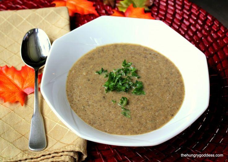 Autumn Mushroom Soup with Cognac - delightful! via @HungryGoddess #hgeats