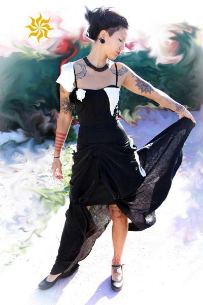 "flowing picture of my evening Dress ""Divergent"" MIA LOEBL® Fashion for unique women"