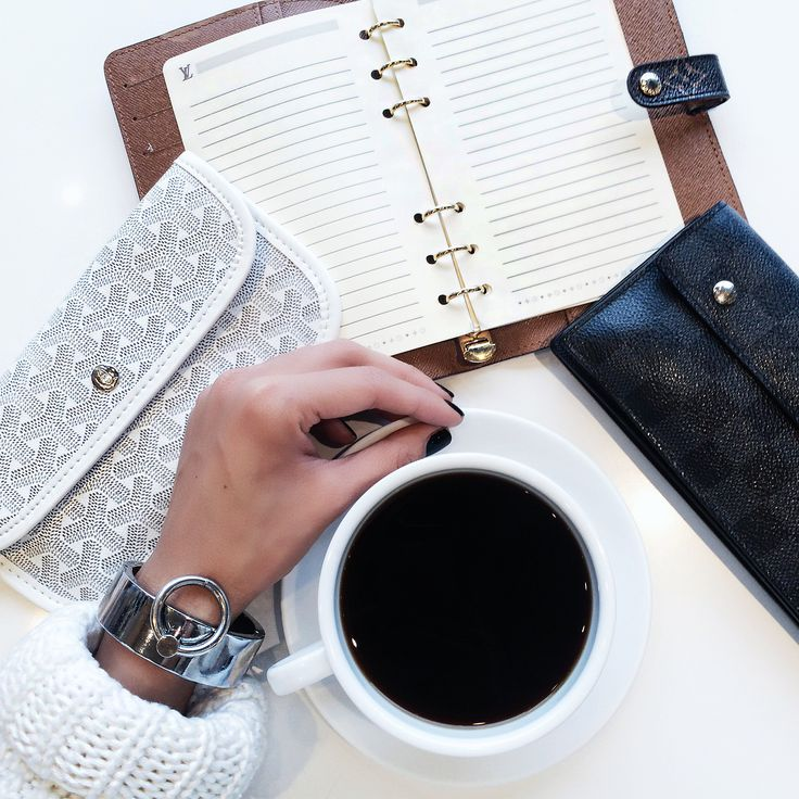 Planning her day in style. Vanessa pairs her coffee with her THP Bound Cuffs! #thpshopco