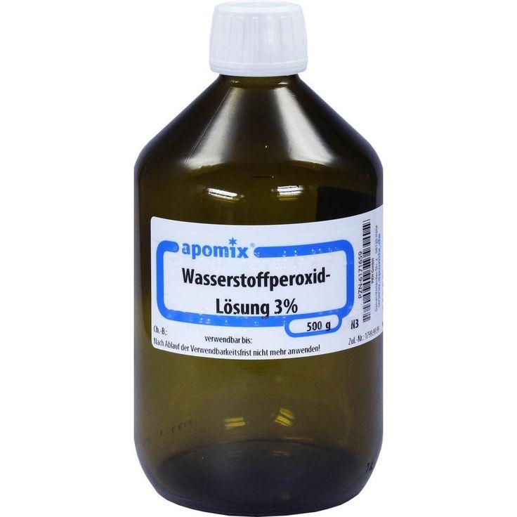 WASSERSTOFFPEROXID 3 prozent DAB 10 Lösung:   Packungsinhalt: 500 g Lösung PZN: 06171659 Hersteller: apomix PKH Pharmazeutisches Labor…