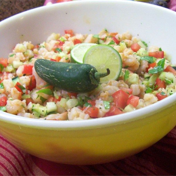 "Avocado Shrimp Ceviche-Estillo Sarita I ""Wonderful! I never attempted ceviche at home but I'll make this over and over."""