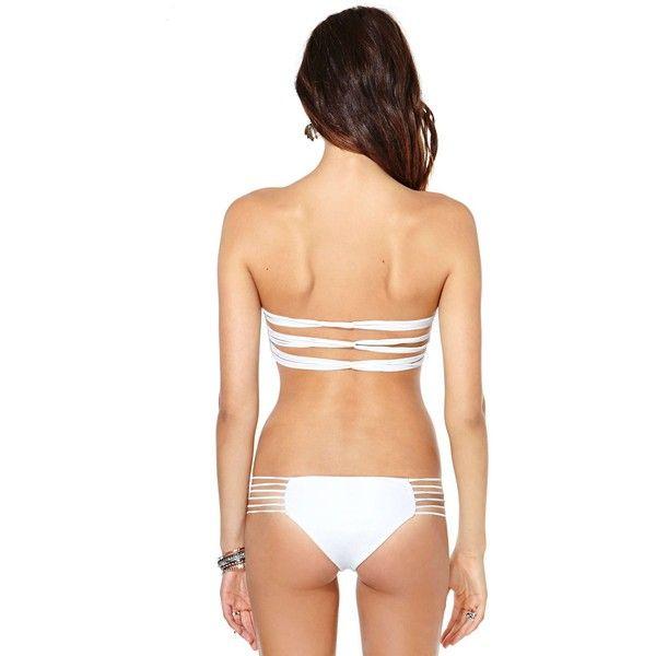 Mikoh Kapalua Bottoms ($46) ❤ liked on Polyvore featuring swimwear, bikinis, bikini bottoms, petite bikini, mikoh bikini top, summer swimwear, swim suit tops and mikoh bikini