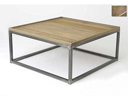 Table Basse Bois Et M 233 Tal Forme Plateau Mobilier De