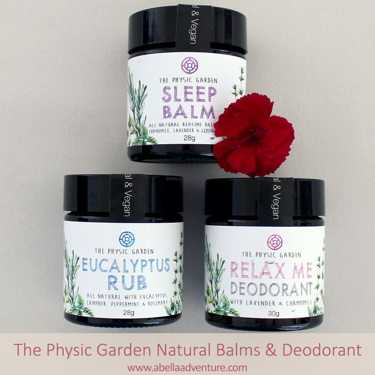 The Physic Garden Natural Balms and Deodorant | A Bella Adventure | http://www.abellaadventure.com/beauty/the-physic-garden-natural-balms-deodorant/