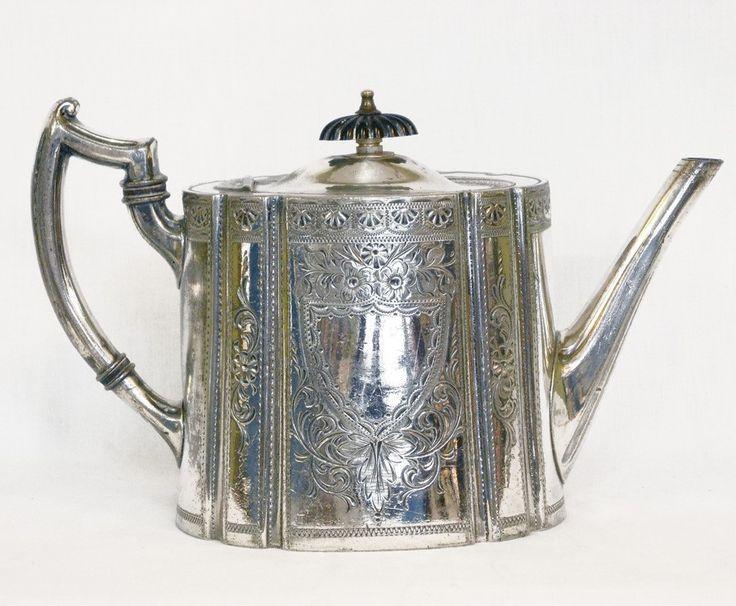 Teiera antica in sheffield-argento Atkin Brothers.  Sheffield Silver plated TeaPot - Atkin Brothers 1895