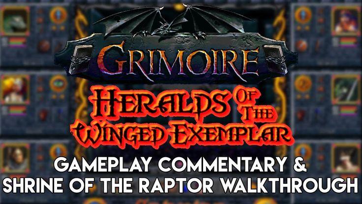 Grimoire Gameplay | Shrine of the Raptor Walkthrough - Retro Old School ...