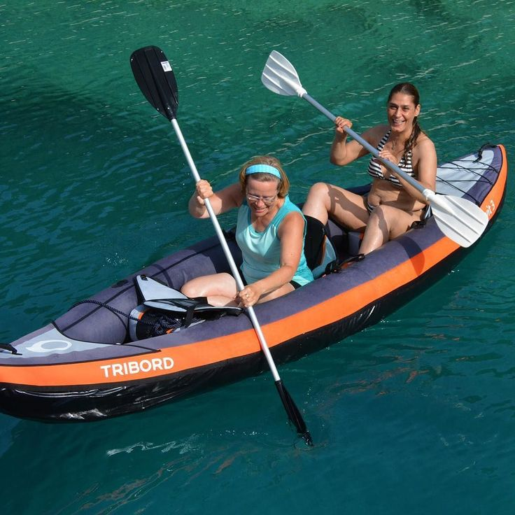 """A quick break from cruise duties  Hostess Sue and Chef Mihrican take to the sea with """"Twitter"""" our 2-seater kayak. - Arkadaslik Yachting - Creating dream vacations one cruise at a time! - - - #kayak #kayaking #canoe #canoeing #paddling #bluecruise #dreamvacation #friendship #gltLOVE #greece #igtravel #instatravel #mediterranean #photooftheday #sharetravelpics #travel #travelgram #travelphotography #travelpics #turkey #türkiye #turquoisecoast #vacation #wanderlust #vacationofalifetime"""