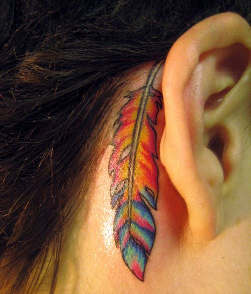 Back of the Ear Miami Ink Tattoo