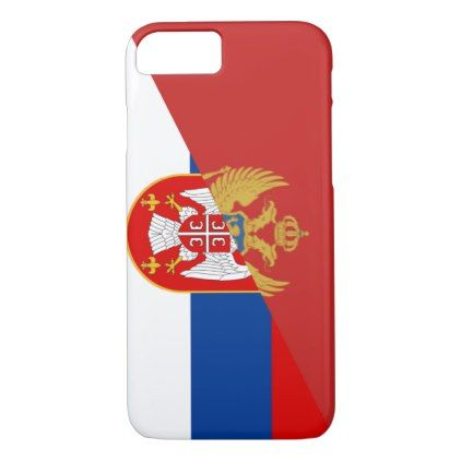 serbia montenegro flag country half symbol iPhone 8/7 case - country gifts style diy gift ideas