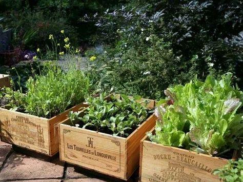 Holzkiste nutzt Kräutergarten 67 Ideen   – Outdoor patio table