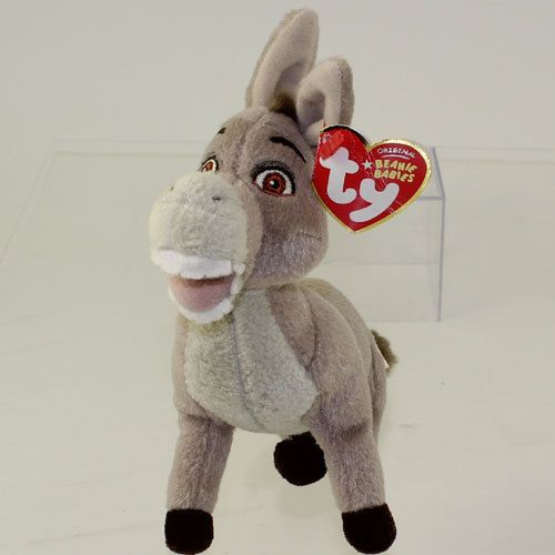 TY Beanie Baby - DONKEY the Donkey (Shrek DVD Exclusive) (7 inch) *NM* #Ty