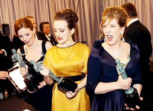 Amy Nuttall, Sophie McShera & Phyllis Logan at the SAG Awards