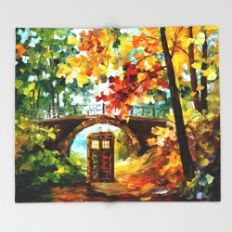 starry Abandoned phone box Under the bridge iPhone 4 4s 5 5c 6, pillow case, mugs and tshirt Throw Blanket