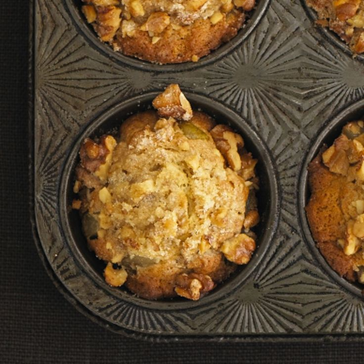 Pear Ginger Walnut Muffins | Recipe | Pears, Muffin Recipes and ...