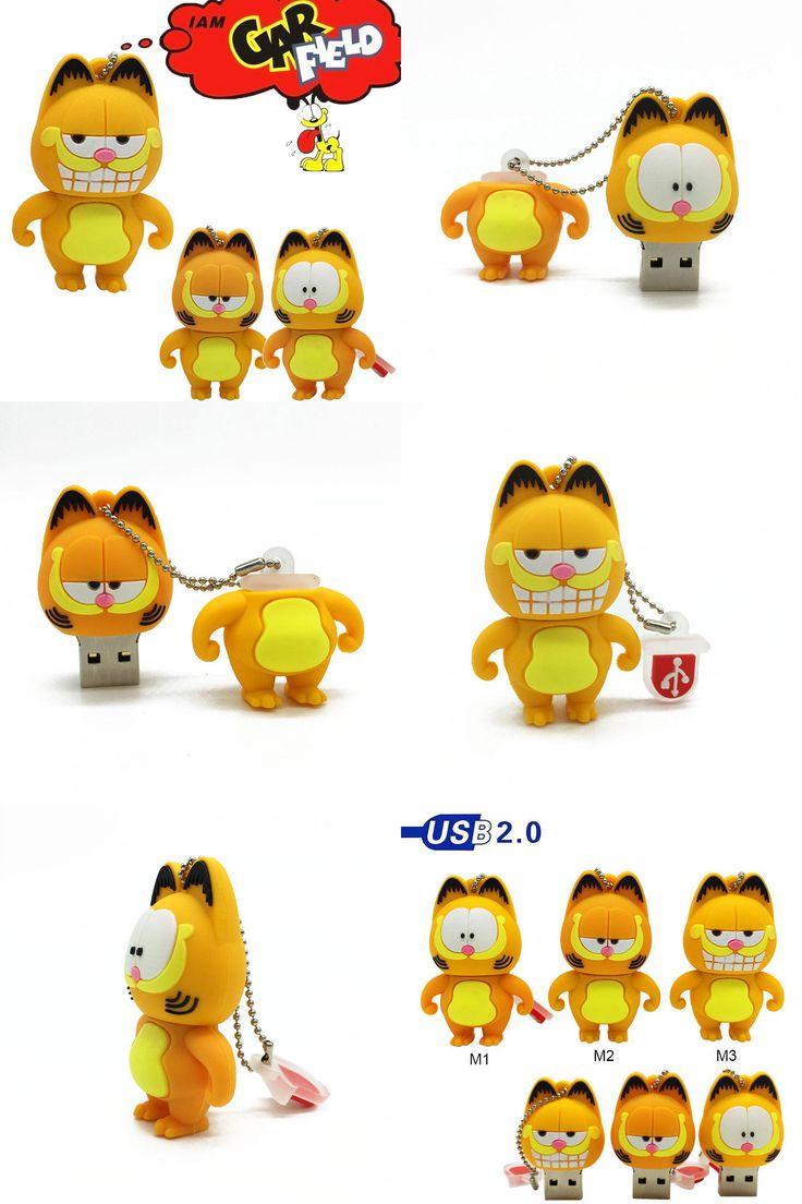[Visit to Buy] Pen Drive Garfield cat Sleepy 4GB 8GB 16GB 32GB 64GB Usb Flash Drive memory stick Pendrive Pendriver mini gift WholesaleGarfield #Advertisement