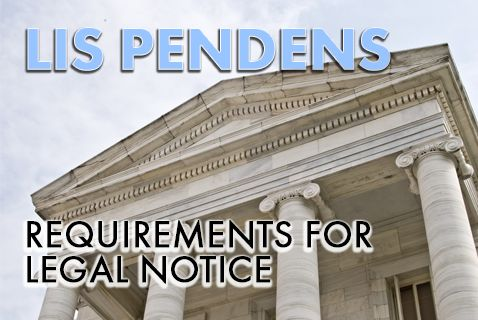 Post image for Legal Notice of a Lis Pendens Requires Mailing to All Owners on the Tax Assessor's Roll