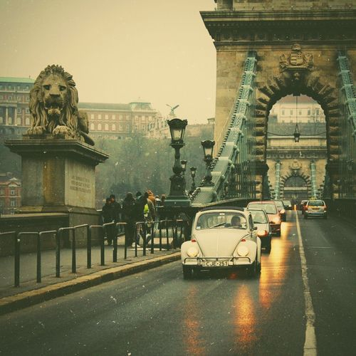 Old School Chain Bridge in #Budapest